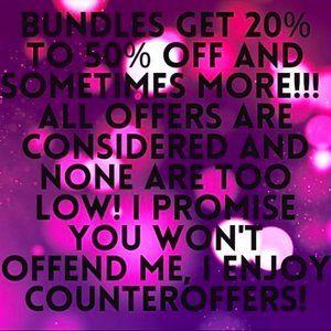 Bundles get huge discounts!!!